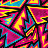 Psychedelisch gekleurd geometrisch naadloos patroon Stock Foto's