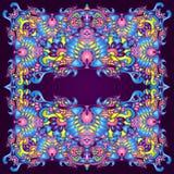 Psychedelisch Kleurrijk Abstract kader Als achtergrond Royalty-vrije Stock Foto's