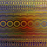 Psychedelisch Kleurrijk Patroon Uniek Abstract Kunstwerk Creatief Geometrisch Ontwerp Als achtergrond Fractal Art Illustration Te Royalty-vrije Stock Foto