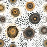 Psychedelische abstrakte nahtlose Beschaffenheit Stockbild