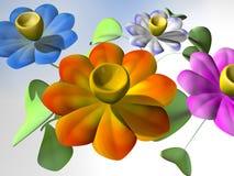 Psychedelische Blumen Stockbild