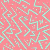Psychedelische chaotische zigzag met puntenpatroon stock illustratie