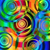 Psychedelische cirkels Royalty-vrije Stock Foto's