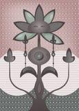 Psychedelische fantastische bloemboom Royalty-vrije Stock Foto's