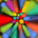 Psychedelische Fliese mit bunten unordentlichen Elementen in den klaren Farben Moderne abstrakte Dekoration Lizenzfreie Stockbilder