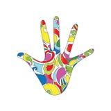 Psychedelische hand Stock Afbeelding