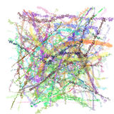 Psychedelische Kleurpotloden Stock Afbeeldingen