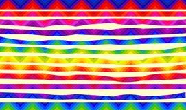 Psychedelische kleurrijke strepen voor banners Stock Afbeelding