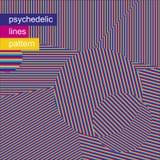 Psychedelische Linien Muster 01 stock abbildung