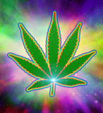 Psychedelische marihuana Royalty-vrije Stock Afbeeldingen