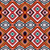 Psychedelische Pixel auf einem schönen Muster des schwarzen Hintergrundes Stockfotografie