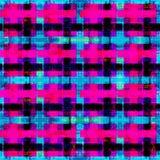 Psychedelische rosa blaue und schwarze Polygone Geometrischer Hintergrund Schmutzeffekt Stockbild