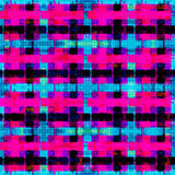 Psychedelische roze blauwe en zwarte veelhoeken Geometrische Achtergrond Grungeeffect Stock Afbeelding