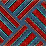 Psychedelische roze en blauwe lijnen en sterren Grungeeffect vector illustratie