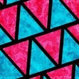 Psychedelische roze en blauwe veelhoeken Grungeeffect mooie geometrische achtergrond royalty-vrije illustratie
