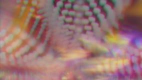 Psychedelische schillernde Verzerrungen, bokeh, greller Glanz, Lichtleckeffekt stock video