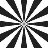 Psychedelische spiraal met radiale grijze stralen De werveling verdraaide retro achtergrond Grappige effect illustratie stock illustratie