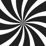 Psychedelische spiraal met radiale grijze stralen De werveling verdraaide retro achtergrond Grappige effect illustratie vector illustratie