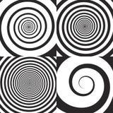 Psychedelische spiraal, werveling stock illustratie