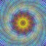 Psychedelische spiraalvormige fractal Royalty-vrije Stock Foto's