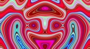 Psychedelische symmetrie abstract patroon en hypnotic achtergrond, achtergrondbehang stock illustratie