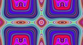 Psychedelische symmetrie abstract patroon en hypnotic achtergrond, creatieve illustratie vector illustratie