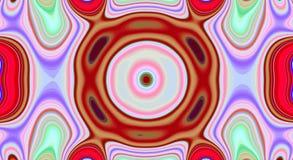 Psychedelische symmetrie abstract patroon en hypnotic achtergrond, gek ontwerp vector illustratie