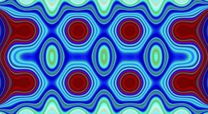 Psychedelische symmetrie abstract patroon en hypnotic achtergrond, geometrisch behang vector illustratie