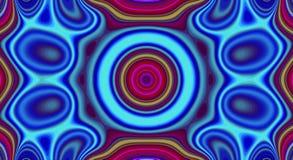 Psychedelische symmetrie abstract patroon en hypnotic achtergrond, heldere geometrisch royalty-vrije illustratie