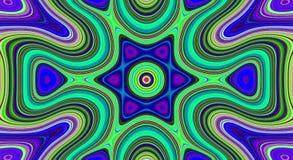 Psychedelische symmetrie abstract patroon en hypnotic achtergrond, achtergrond vector illustratie