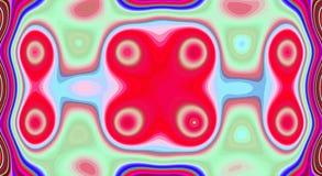 Psychedelische symmetrie abstract patroon en hypnotic achtergrond, zine artistieke cultuur stock illustratie