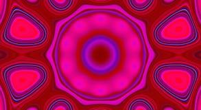 Psychedelische symmetrie abstract patroon en hypnotic achtergrond, zine cultuurillustratie vector illustratie