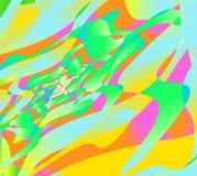 Psychedelische tunnelachtergrond, abstract multicolored ontwerp Stock Fotografie
