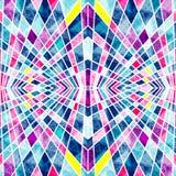 Psychedelische veelhoeken met witte contouren heldere abstracte geometrische achtergrond Stock Afbeelding