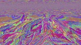 Psychedelische vibrierende Neonpartikel des einzigartigen Fehlers Saure Reise stock abbildung