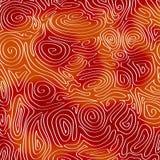 Psychedelische wervelende golven stock illustratie