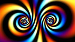 Psychedelischer Farbstrudel stock footage