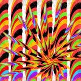 Psychedelischer geometrischer abstrakter Hintergrundvektorillustrations-Schmutzeffekt Stockbilder