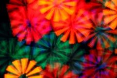 Psychedelischer Hintergrund der hellen Strahlen Lizenzfreie Stockfotos