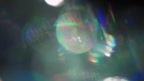 Psychedelischer Hintergrund, schillernde holoraphic Folie, schimmerndes buntes bokeh stock video