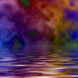 Psychedelischer Ozean stock abbildung