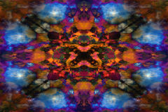 Psychedelisches Kaleidoskopwolkenmuster Lizenzfreies Stockfoto