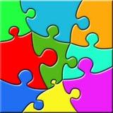 Psychedelisches Puzzlespiel Stockfotografie