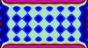 Psychedelisches Symmetriezusammenfassungsmuster und Hypnotikhintergrund, Farbe verrückt stock abbildung