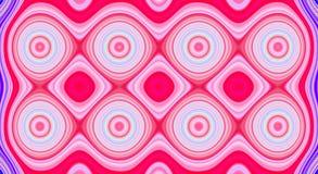 Psychedelisches Symmetriezusammenfassungsmuster und hypnotischer Hintergrund, Illustration verrückt stock abbildung