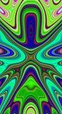 Psychedelisches Symmetriezusammenfassungsmuster und hypnotischer Hintergrund, kreativ vektor abbildung