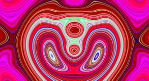 Psychedelisches Symmetriezusammenfassungsmuster und hypnotischer Hintergrund, Hintergrund kreativ vektor abbildung