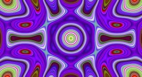 Psychedelisches Symmetriezusammenfassungsmuster und hypnotischer Hintergrund, Tapete künstlerisch lizenzfreie abbildung