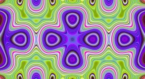 Psychedelisches Symmetriezusammenfassungsmuster und hypnotischer Hintergrund, Hintergrund verrückt stock abbildung