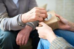 Psychiatra ofiary tkanki Starszy pacjent Obraz Royalty Free